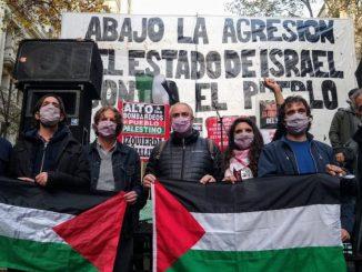 Acto del FIT Unidad en solidaridad con el pueblo palestino