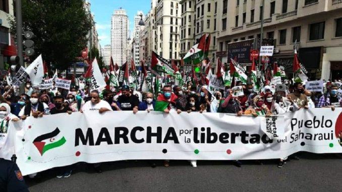 Saharaui marcha