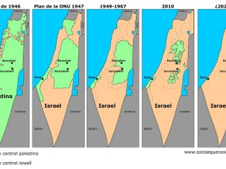 Mapa Palestina Israel